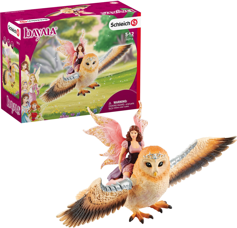 Schleich - Schleich Fairy in Flight on Glam-Owl