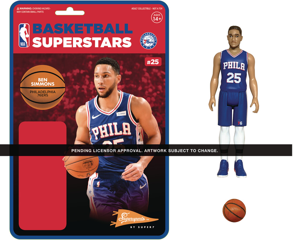 NBA Reaction Figure - Ben Simmons (76Ers) - Super7 - NBA ReAction Figure - Ben Simmons (76Ers)