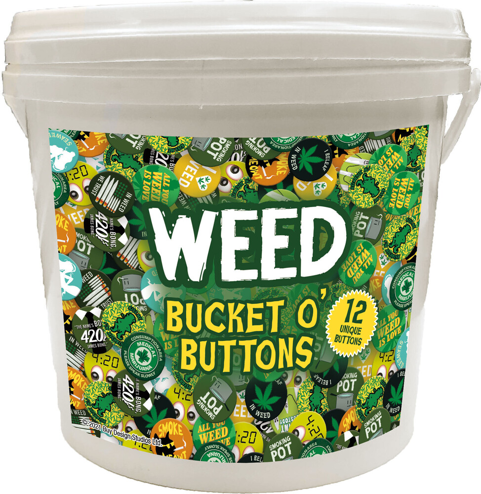 Weed 144 PC Bucket O' Buttons - Weed 144 PC Bucket O' Buttons