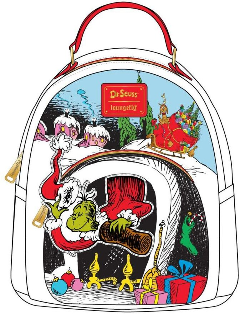 Loungefly Dr. Seuss: - The Grinch Chimney Thief Mini Backpack (Back)