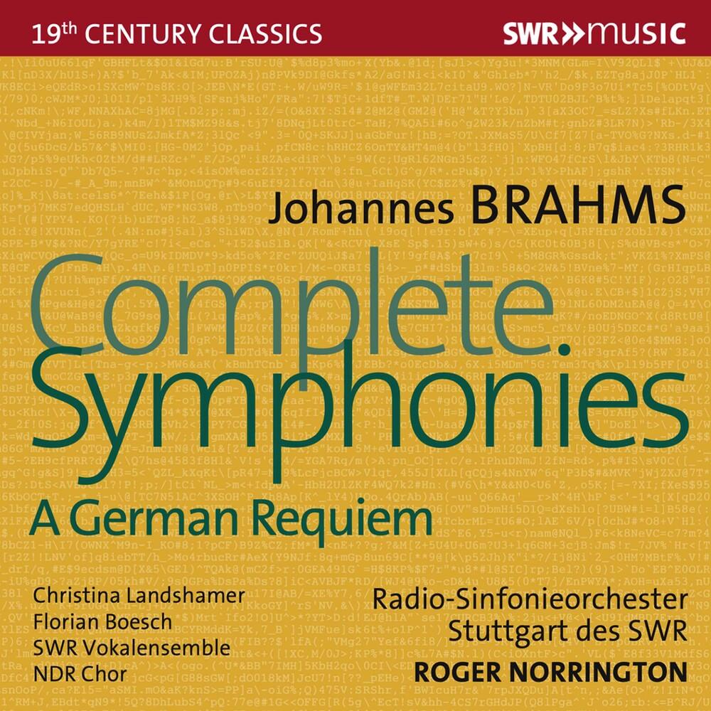 Brahms / Norrington / Ndr Chor - Complete Symphonies (4pk)