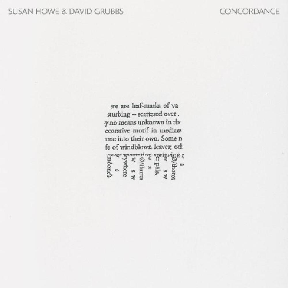 Susan Howe  / Grubbs,David - Concordance