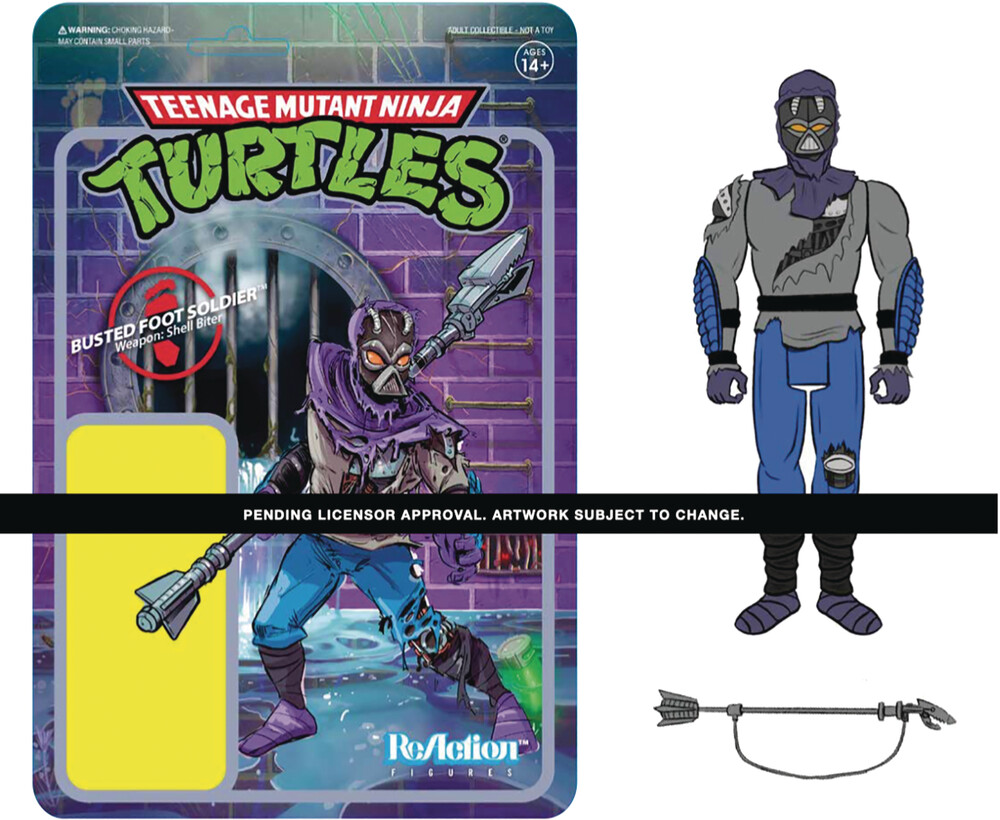 Tmnt Wave 3 - Damaged Foot Solider - Teenage Mutant Ninja Turtles Wave 3 - Damaged Foot Solider
