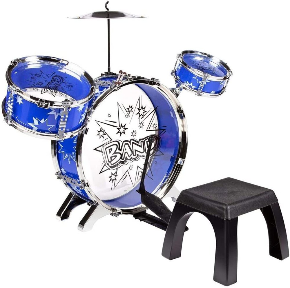 Playsets - Big Band Drum Set (One random color per transaction. Colors blue or red)