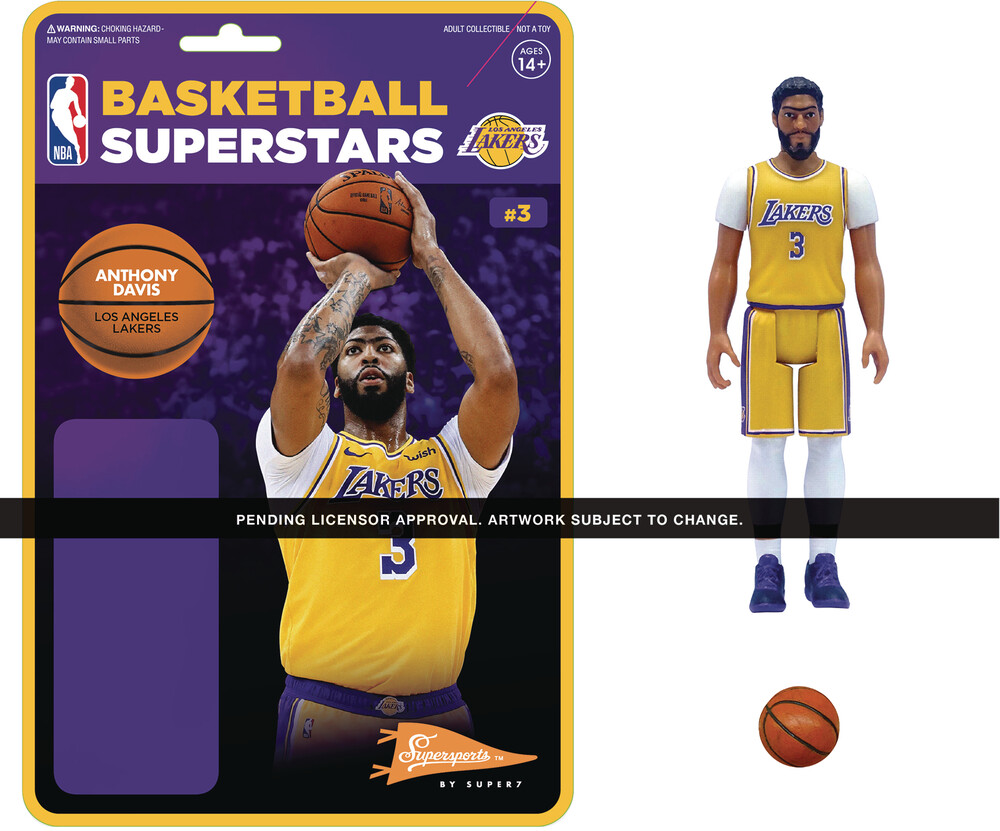 NBA Reaction Figure - Anthony Davis (Lakers) - Super7 - NBA ReAction Figure - Anthony Davis (Lakers)