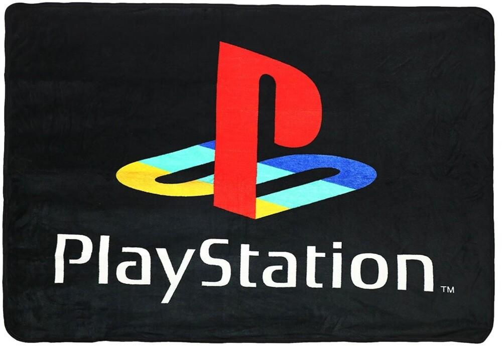 Sony Playstation Logo Digital 48 X 60 Fleece Throw - Sony Playstation Logo Digital 48 x 60 Fleece Polyester Flannel Throw