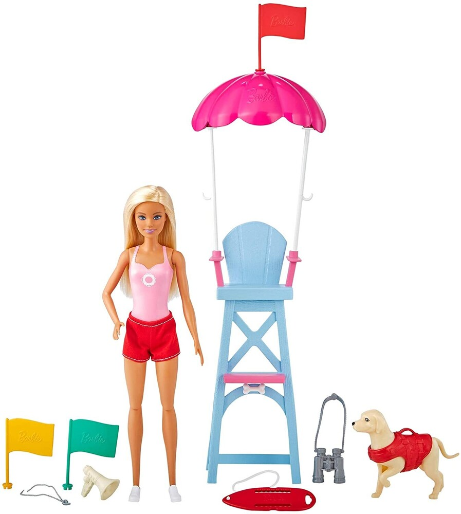 - Mattel - Barbie Barbie Lifeguard Playset, Blonde