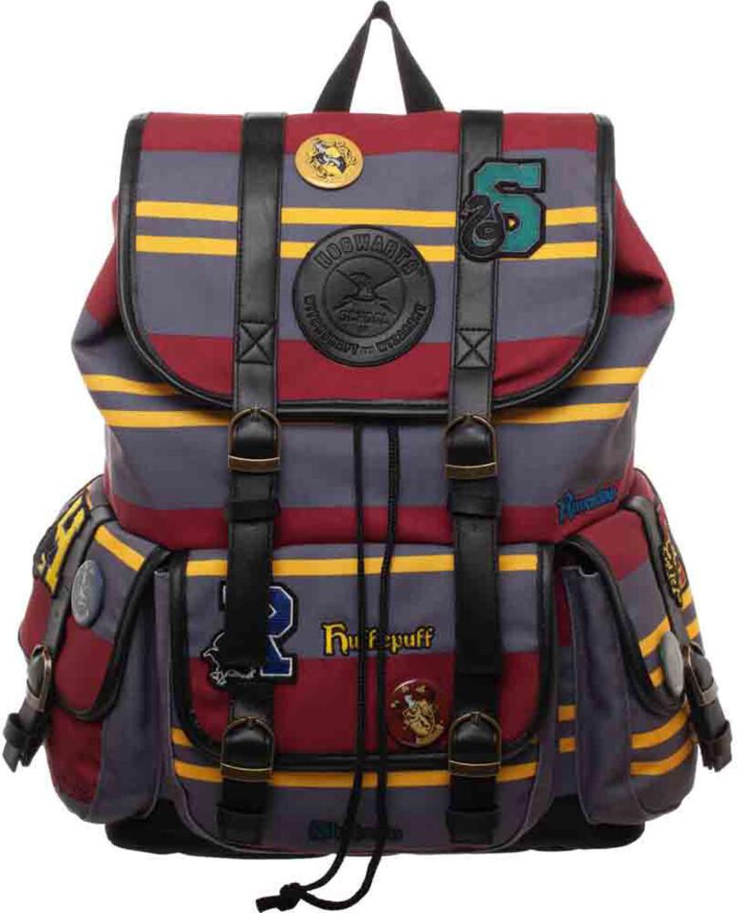 Harry Potter Hufflepuff Badge Rucksack Backpack - Harry Potter Hufflepuff Badge Rucksack Backpack