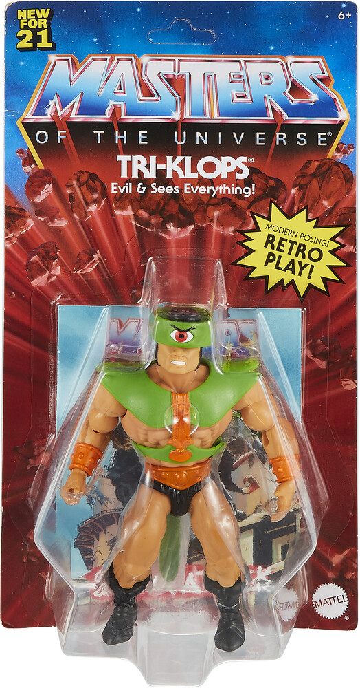 Masters Of The Universe - Mattel Collectible - Masters of the Universe Origins Tri-Klops Action Figure (He-Man, MOTU)