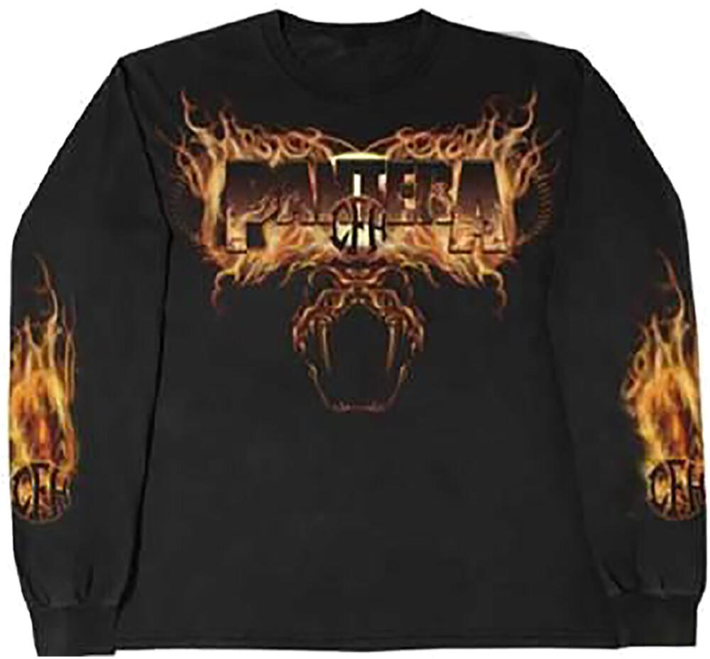 - Pantera Snake In Flames Black Ls T-Shirt S (Blk)