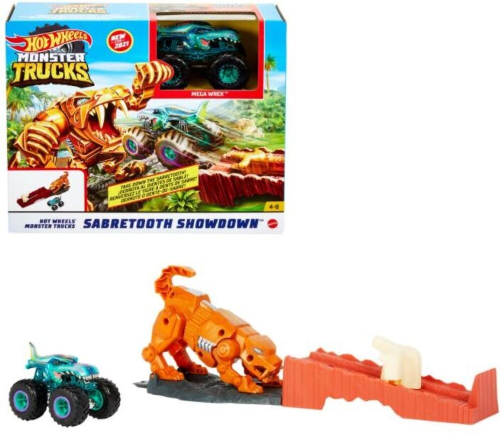 Hot Wheels Monster Truck - Hw Monster Truck Sabertooth Showdown (Tcar)