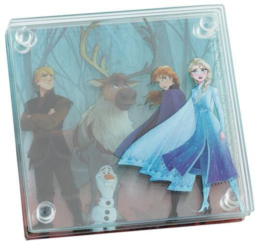 Disney Frozen 2 Stacking Glass Coaster Set of 4 - Disney Frozen 2 Stacking Glass Coaster Set Of 4