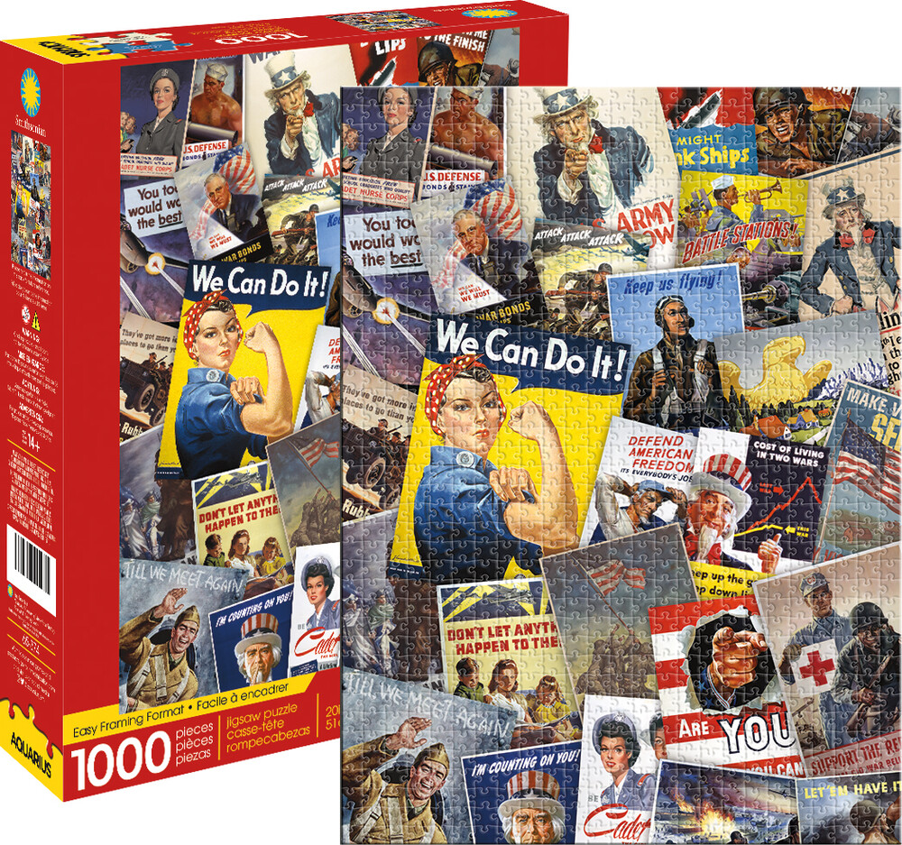 Smithsonian War Posters Collage 1000 PC Puzzle - Smithsonian War Posters Collage 1000 Pc Puzzle