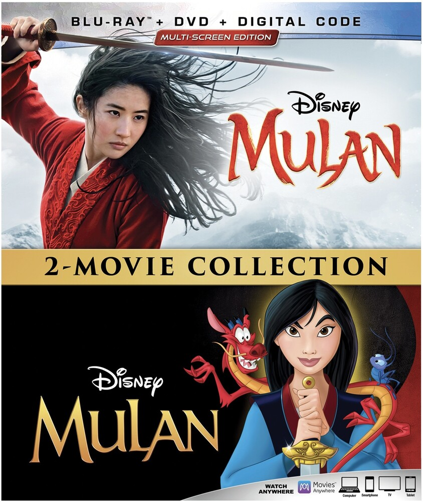 Ming-Na Wen - Mulan (Live Action / Animated) (4pc) (W/Dvd)