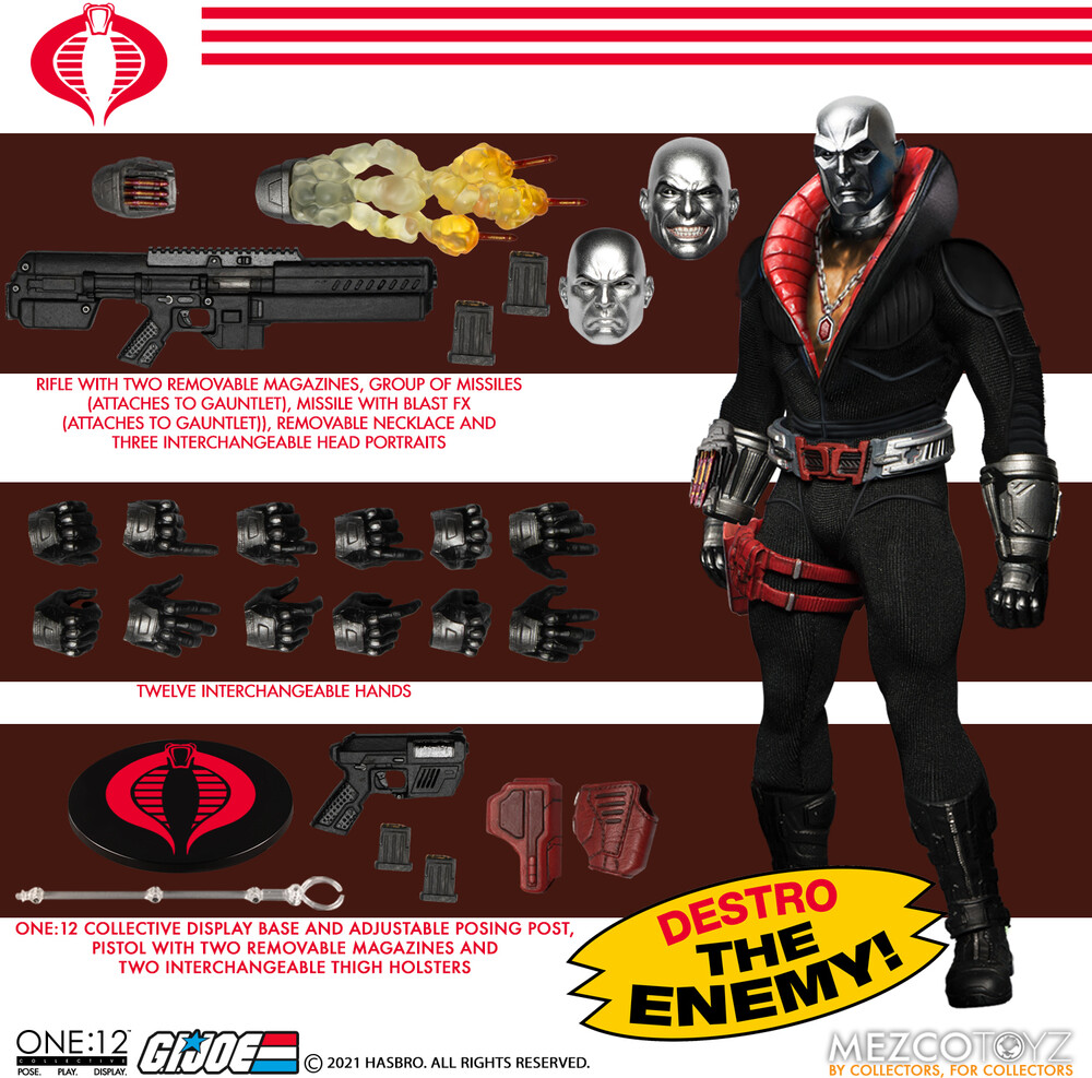 - One:12 Collective G.I. Joe: Destro (Clcb) (Fig)