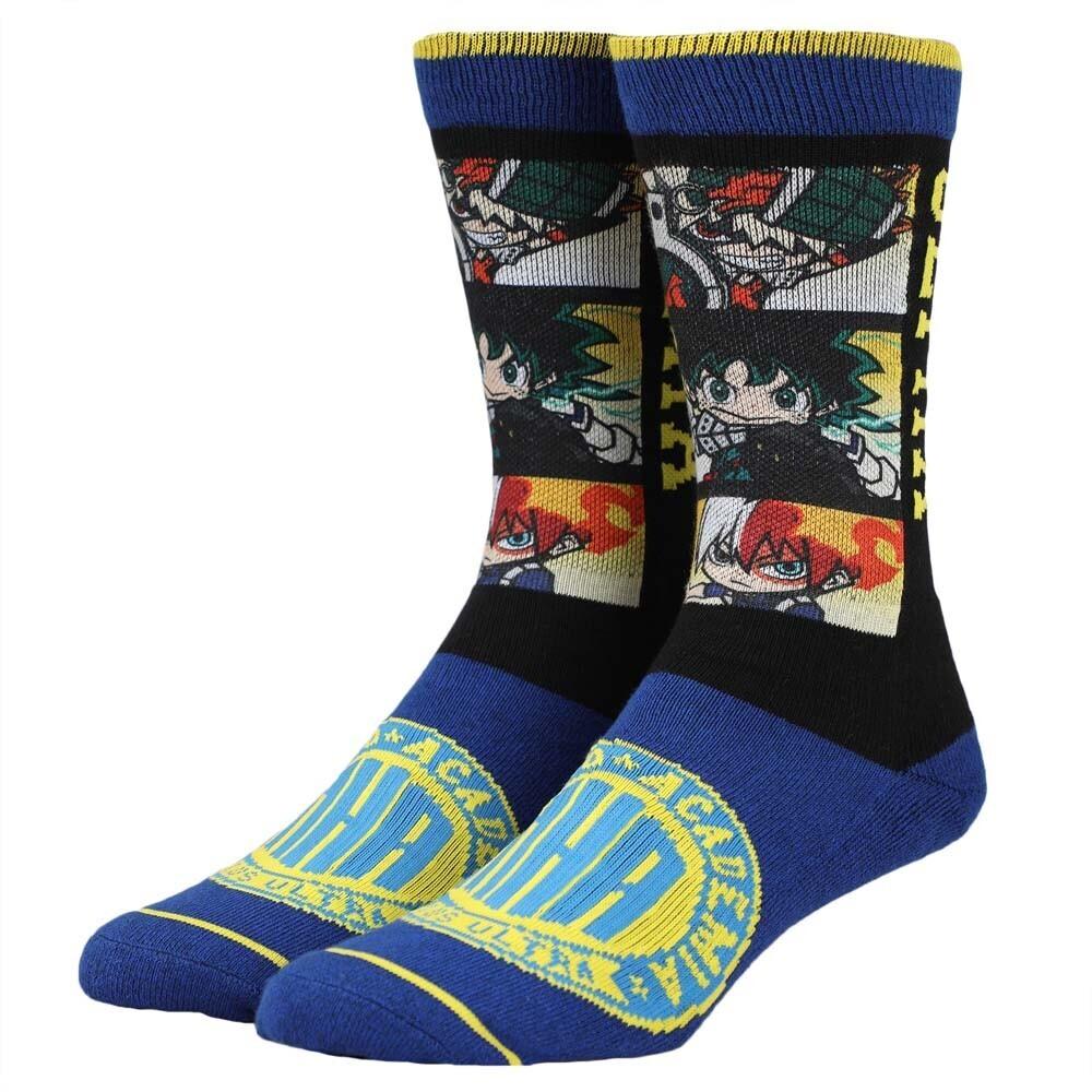 - My Hero Academia Chibi Sublimated Crew Socks 8-12