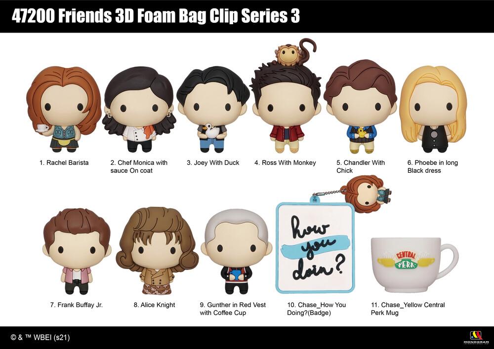 Friends 3D Foam Bag Clip - Series 3 - Friends 3d Foam Bag Clip - Series 3 (Key)