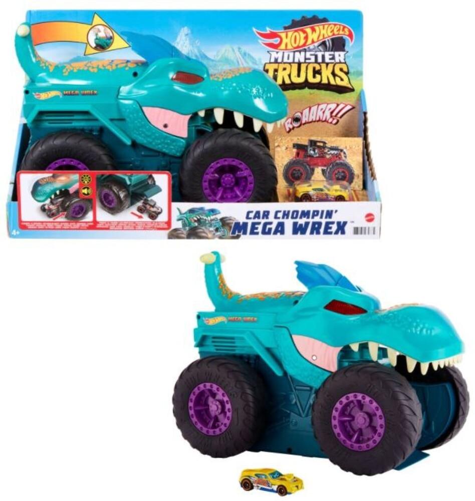 Hot Wheels Monster Truck - Hw Monster Truck Car Chompin Mega Wrex (Tcar)