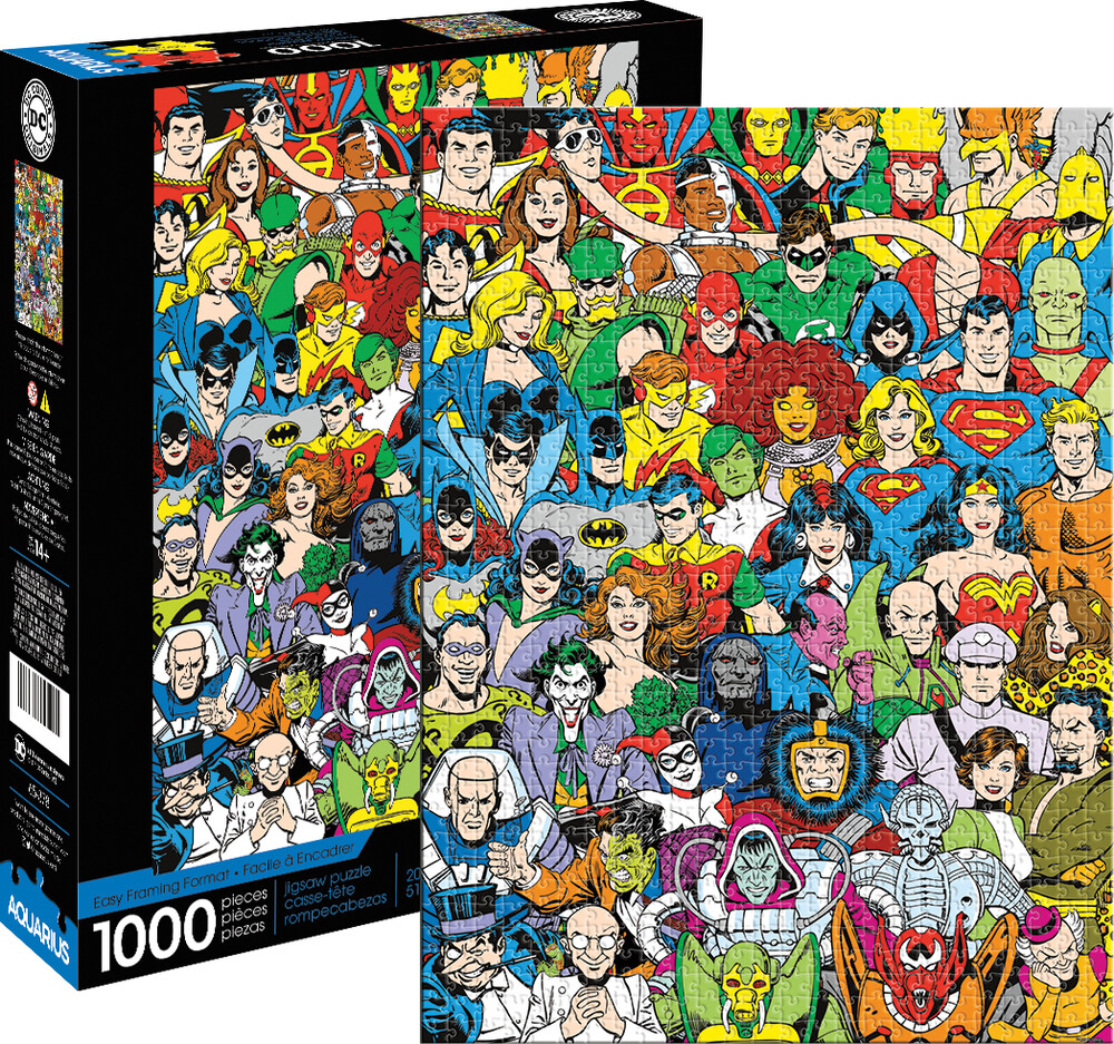 Dc Comics Retro Cast 1000 PC Puzzle - DC Comics Retro Cast 1000 Pc Puzzle