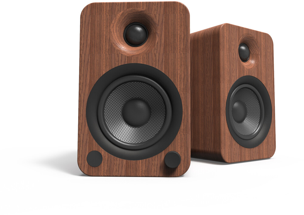 Kanto Yu4Walnut Bt Bookshelf Speakers 140W Walnut - Kanto YU4WALNUT Bluetooth Wireless Powered Bookshelf Speakers 140Watts and Phono Preamp (Walnut)