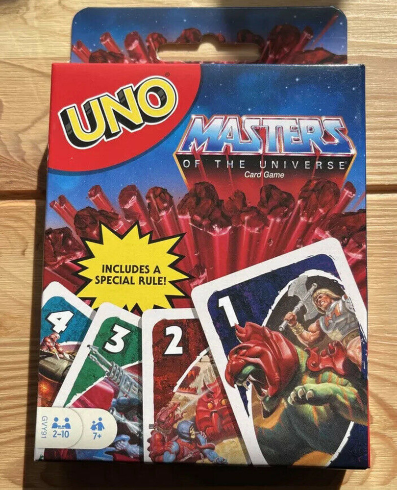 Uno Masters of the Universe - Mattel Games - UNO Masters of the Universe Origins (He-Man, MOTU)