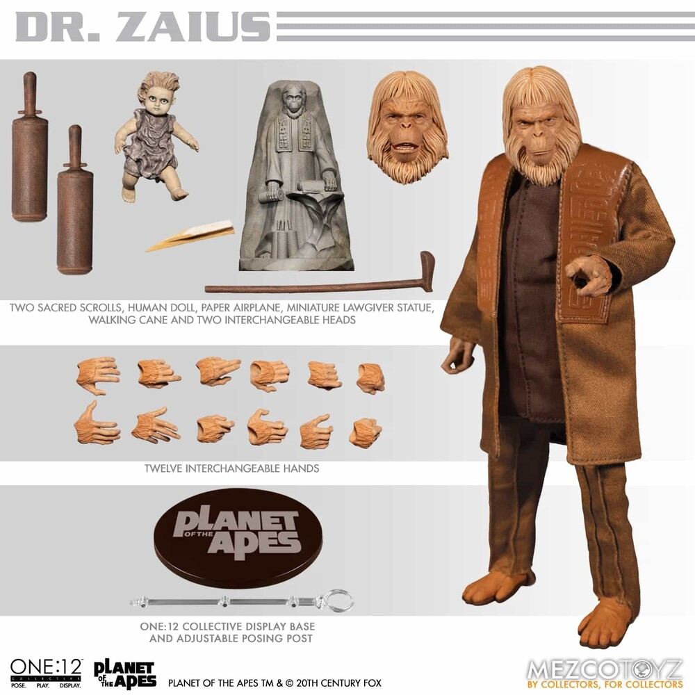One:12 Collective Planet of the Apes 68: Dr. Zaius - Mezco One:12 Collective Planet of the Apes (1968): Dr. Zaius