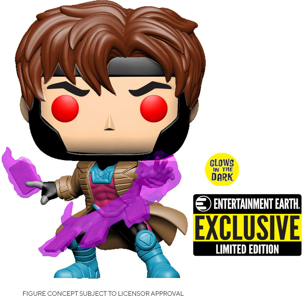 X-Men Gambit Glow-in-the Dark-Pop! Vinyl Fig - X-Men Gambit Glow-in-the Dark Pop! Vinyl Figure - EE Exclusive