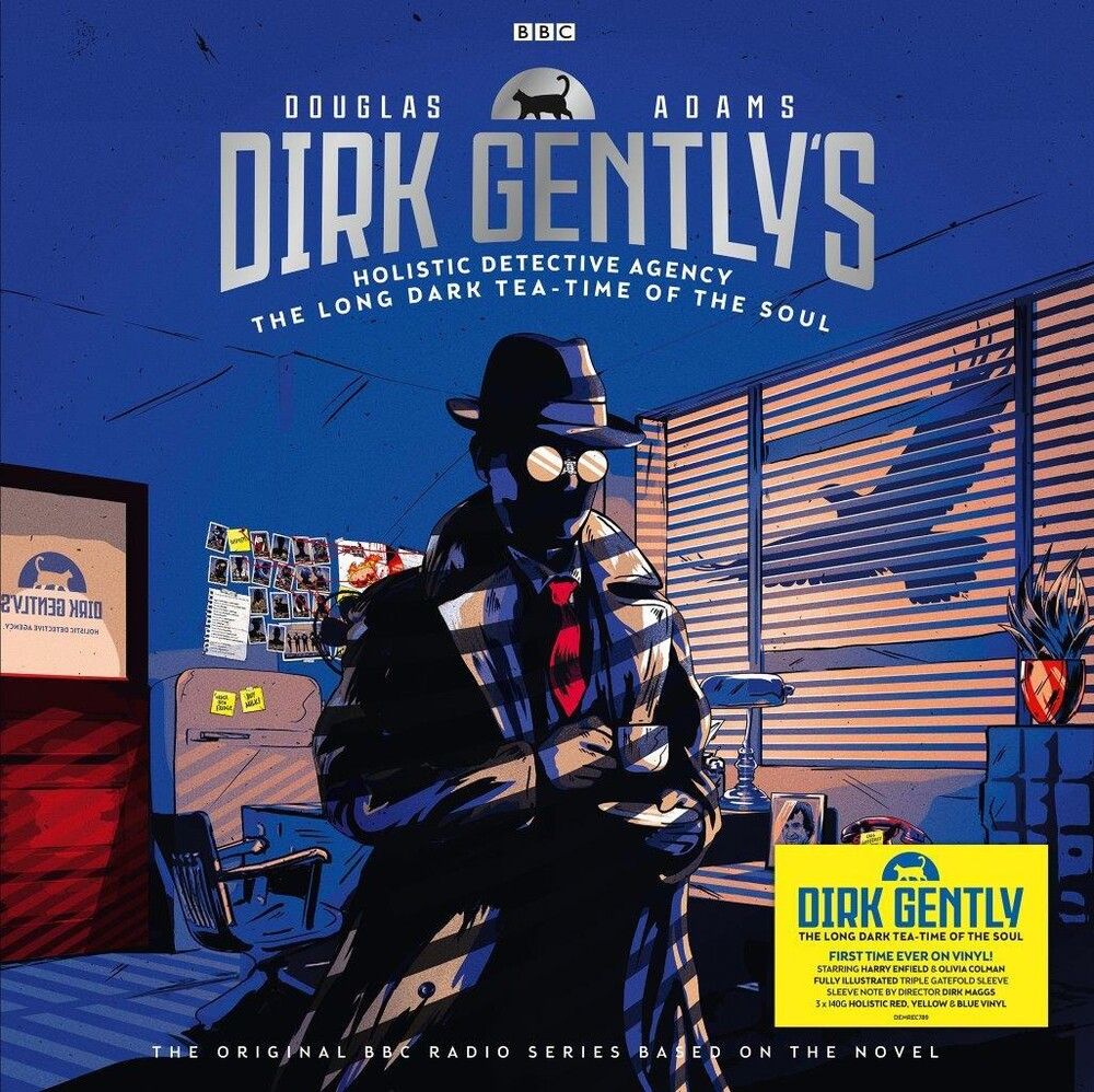 Douglas Adams - Dirk Gently: The Long Dark Tea-Time Of The Soul [140-Gram Red, Blue & Yellow Colored Vinyl]