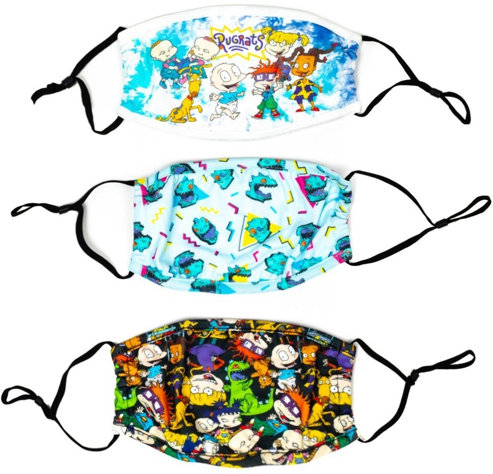 Nickelodeon Rugrats Adjustable Face Covers 3 Pack - Nickelodeon Rugrats Adult Size Adjustable Face Covers 3 Pack