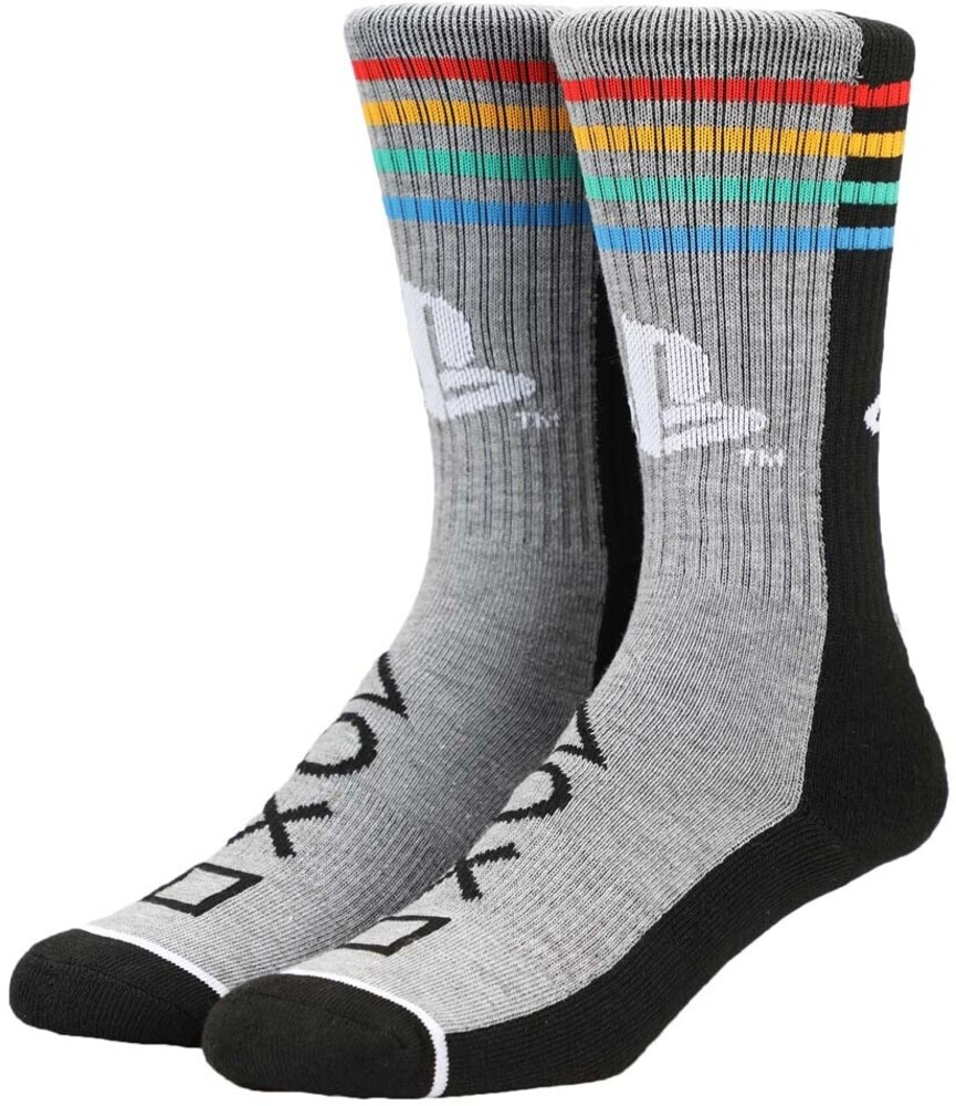 - Sony Playstation Split Colorblock Crew Socks Men's Shoe Size 8-12