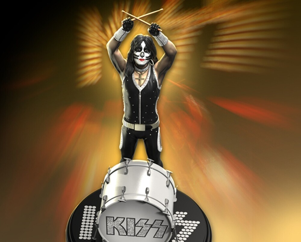- Knucklebonz - KISS - Peter Criss (Alive!) Rock Iconz Statue