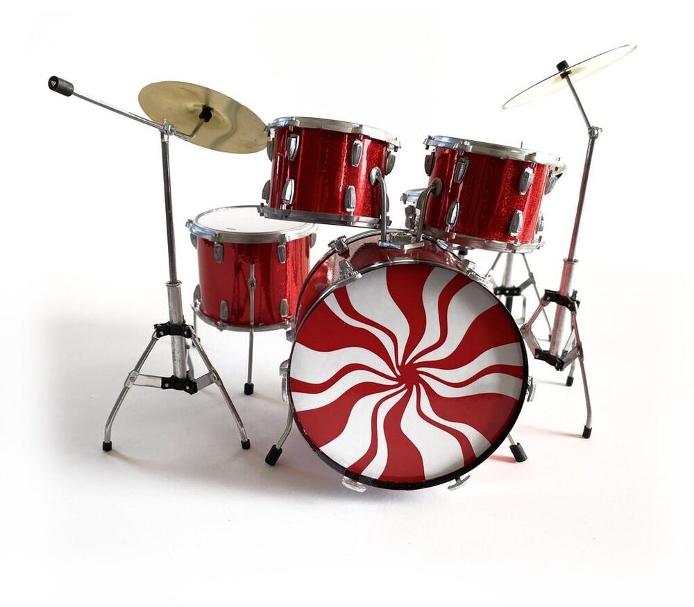 Meg White White Stripes Ludwig Mini Drum Kit - Meg White White Stripes Ludwig Mini Drum Kit (Fig)