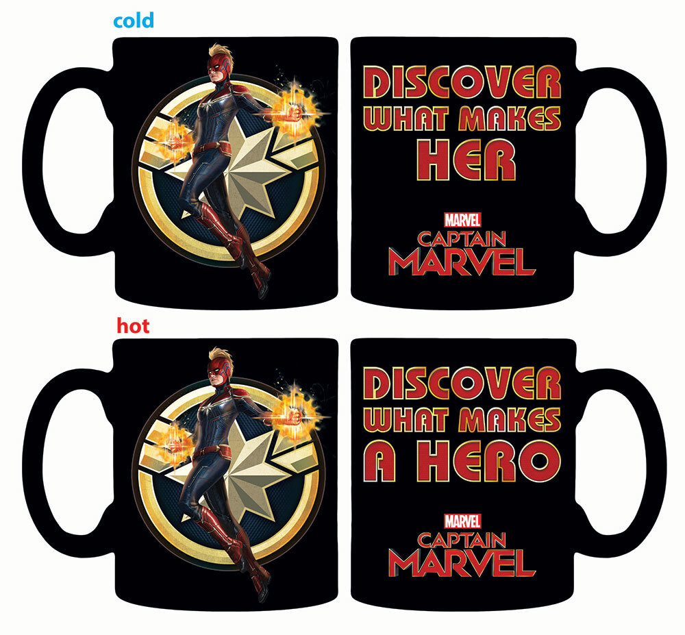 Captain Marvel Heat Reveal Mug - Captain Marvel Heat Reveal Mug