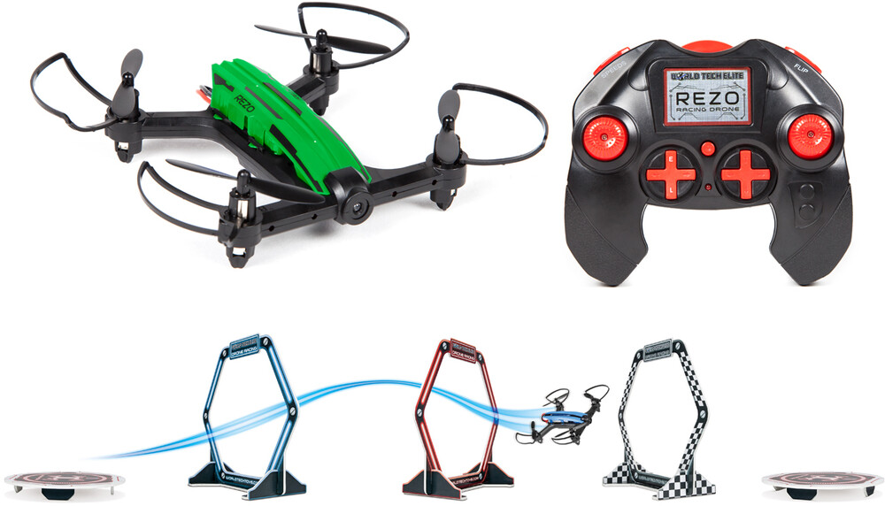 Rc Drone - Elite REZO 2.4GHz 4.5ch RC Racing Drone (One random color per transaction. Colors red, blue, green or yellow.)