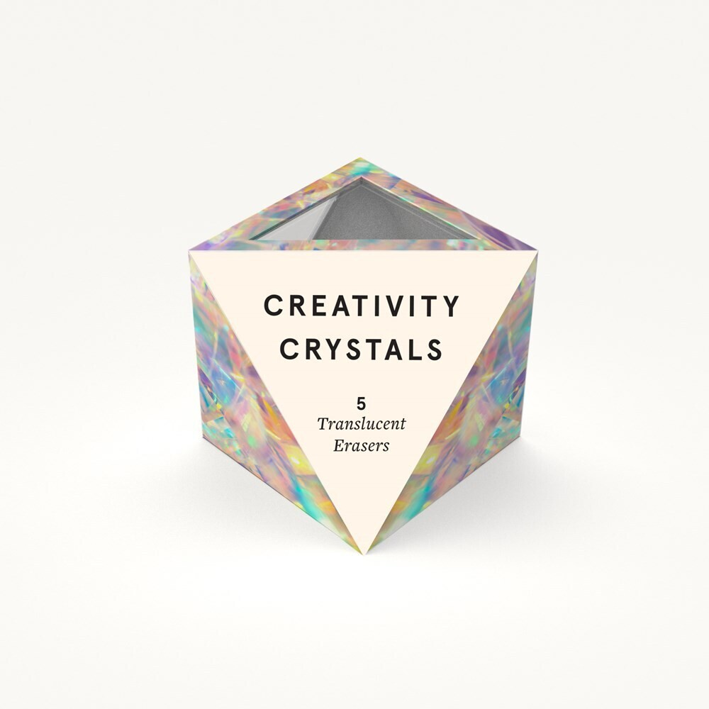 - Creativity Crystals: 5 Translucent Erasers
