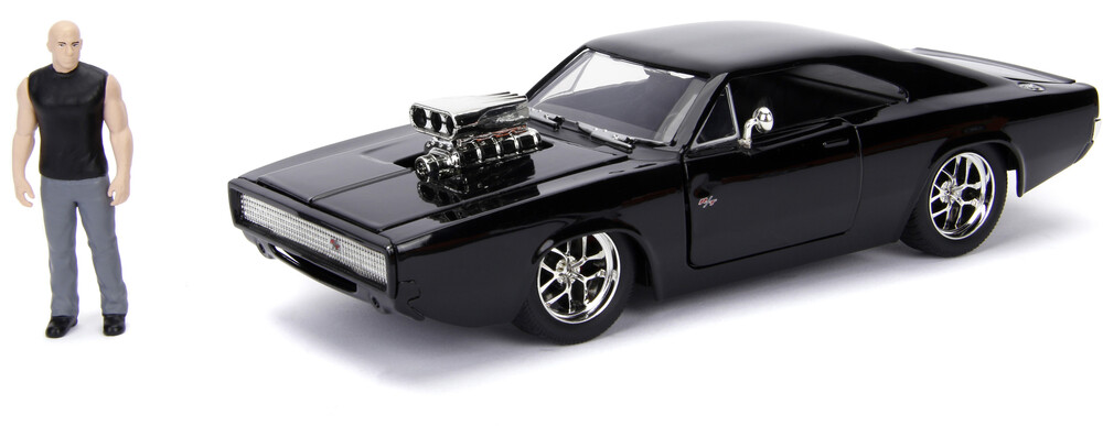 - Jada 1:24 Diecast 1970 Dodge Charger (Street) With Dom Toretto Figure