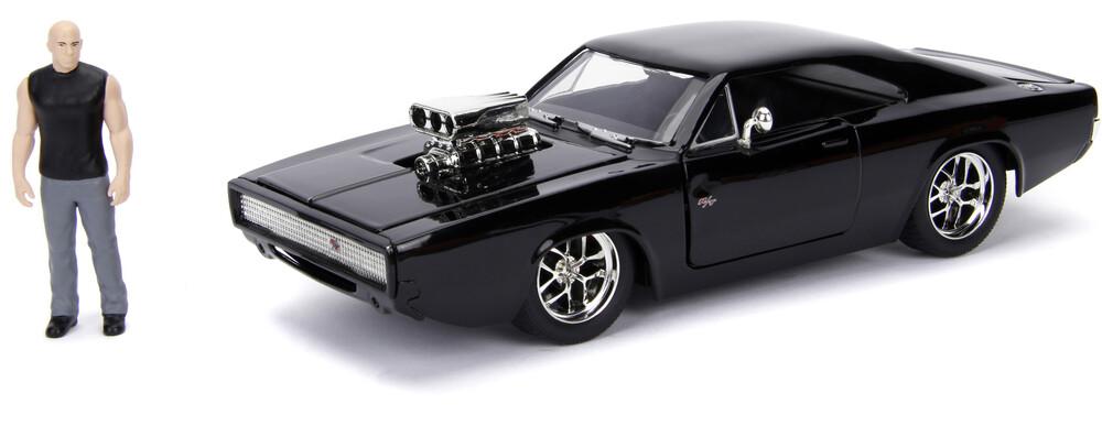 1:24 1970 Dodge Charger (Street) W/Dom Toretto Fig - Jada 1:24 Diecast 1970 Dodge Charger (Street) With Dom Toretto Figure