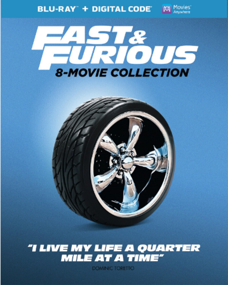 - Fast & The Furious 8-Movie Collection (9pc)