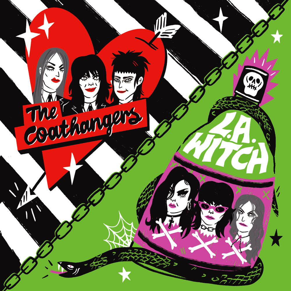 Coathangers / L.A. Witch - One Way Or The Highway (Half Red/ Half Purple)