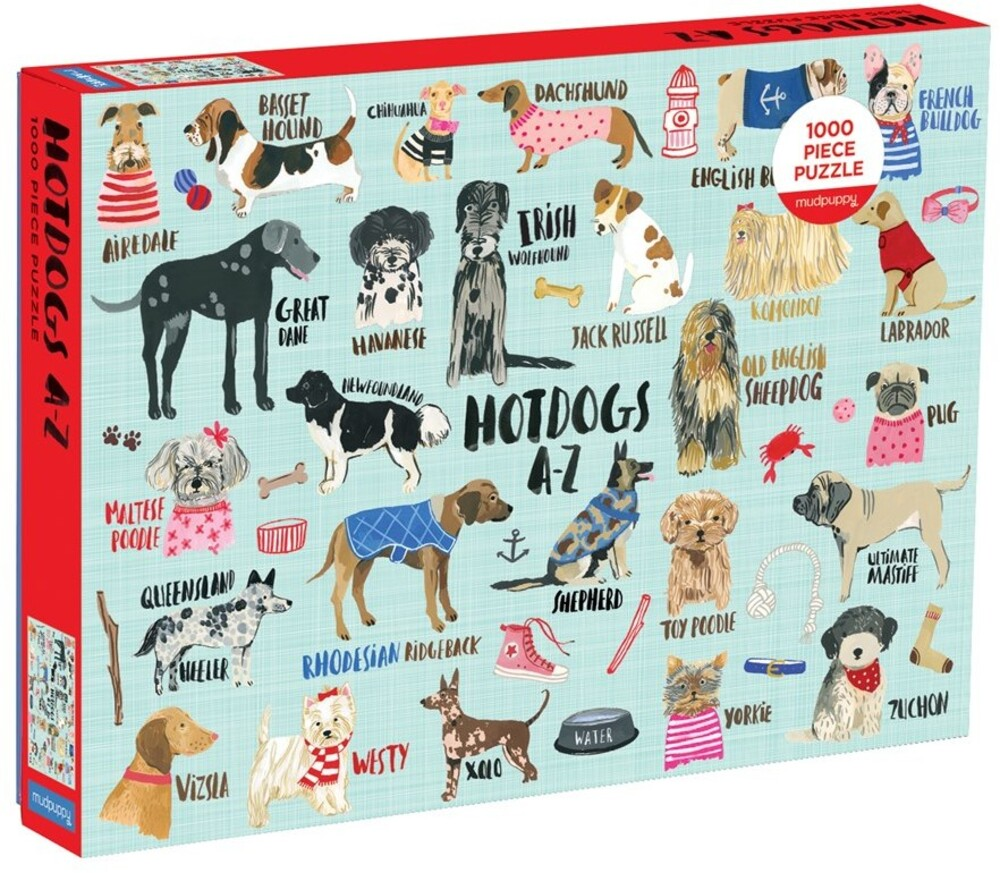 - Hot Dogs A-Z 1000 Piece Puzzle