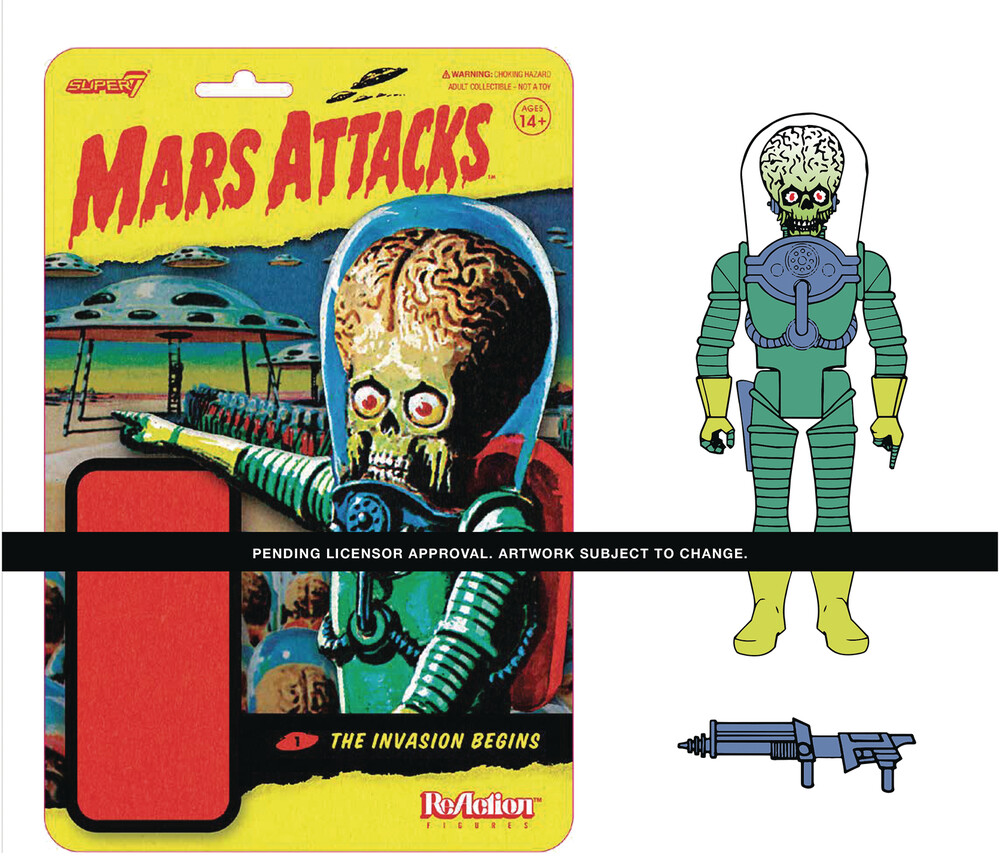 Mars Attacks Reaction Wave 1 - Mars Alien with Gun - Mars Attacks ReAction Wave 1 - Mars Alien with Gun