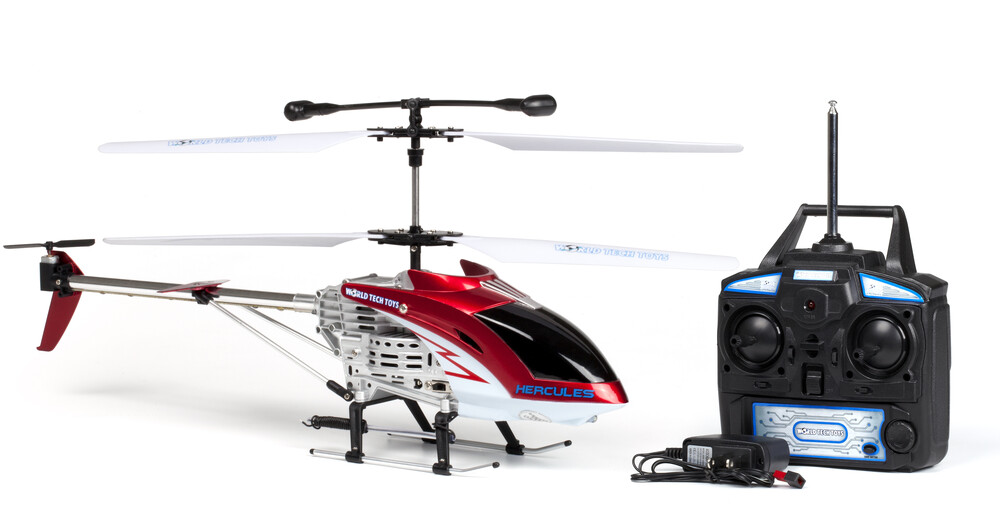 Rc Helicopters - 3.5CHs: Hercules Remote Control UNBREAKABLE Gyro Helicopter (One random color per transaction. Colors red, blue or yellow.)