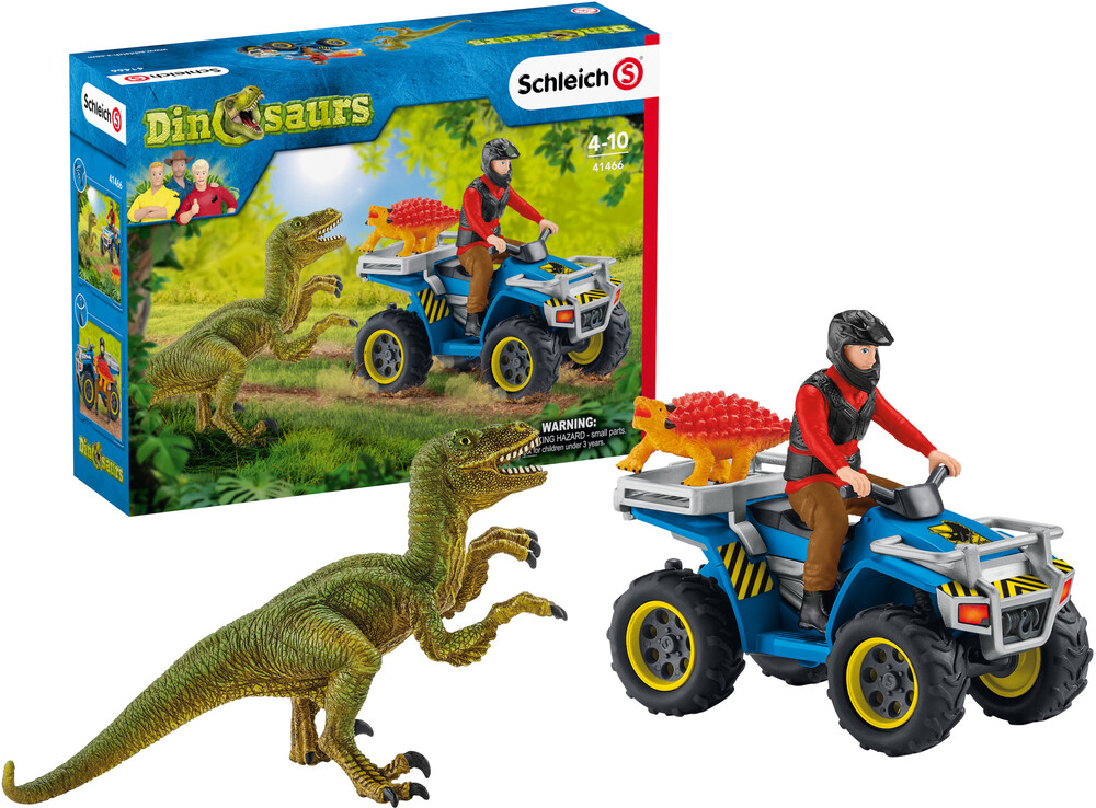 Schleich - Schleich Quad Escape From Velociraptor