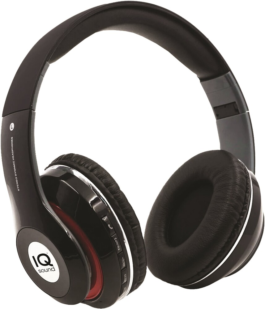 Supersonic Iq130Btblk Bt Headphones Foldable Blk - Super Sonic IQ-130BT- BLK Bluetooth Wireless Headphones HighPerformance On Ear Foldable with FM Radio and Micro SD Slot (Black)