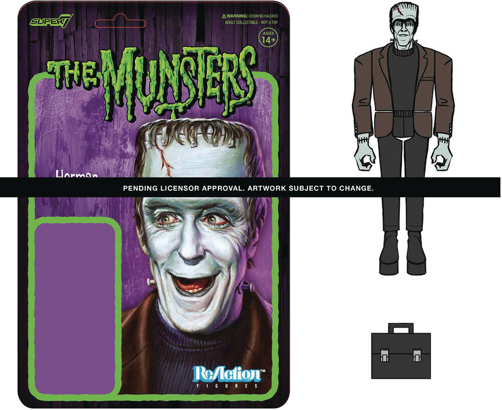 Munsters Reaction Wave 1 - Herman Munster - Super7 - Munsters ReAction Wave 1 - Herman Munster