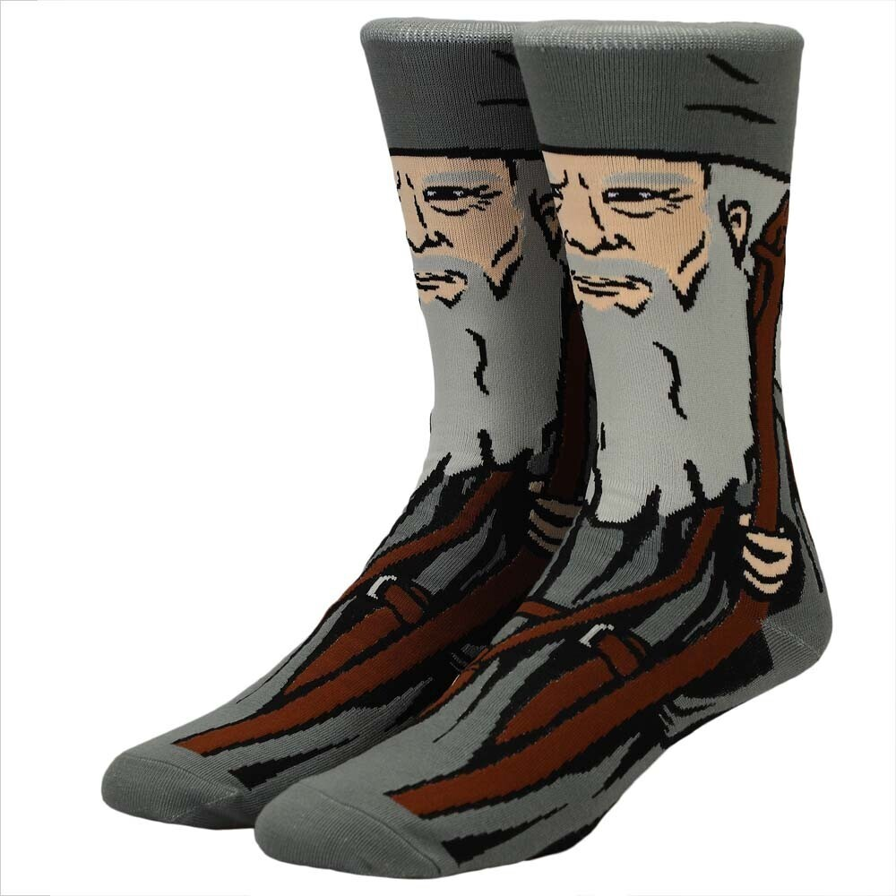Lord of the Rings Gandalf Character Crew Socks - Lord Of The Rings Gandalf Character Crew Socks
