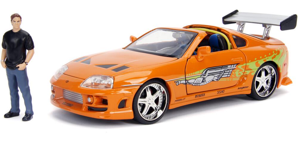 - Jada 1:24 Diecast 1995 Toyota Supra With Brian O'Conner Figure