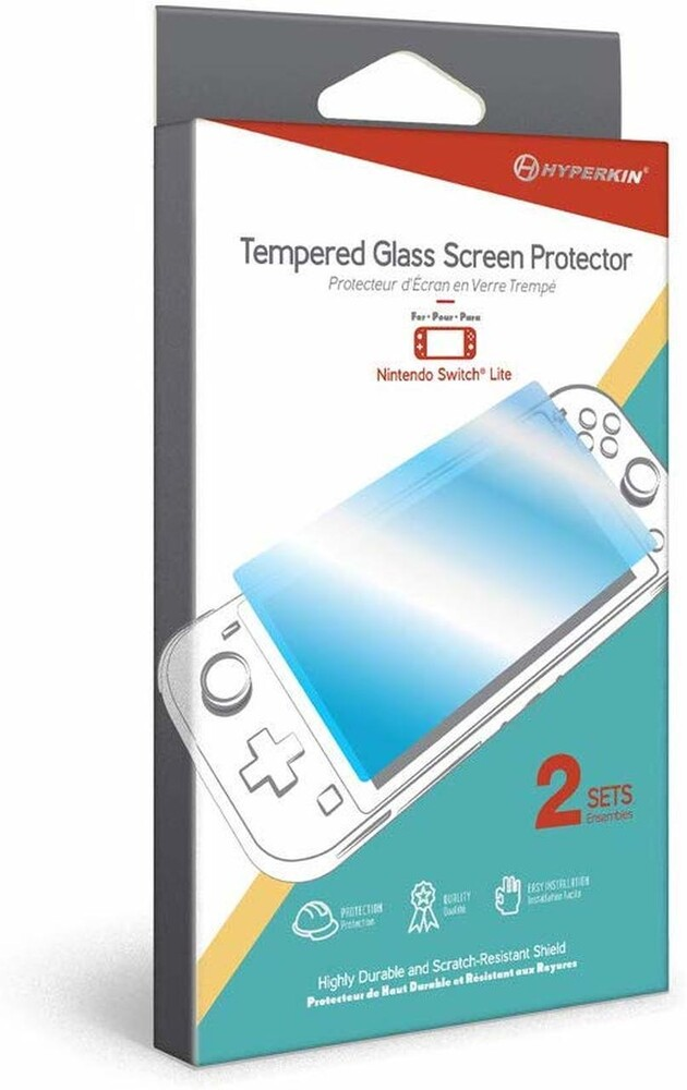 - Hyperkin Tempered Glass Screen Protector for Nintendo Switch Lite(2-Sets) for Nintendo Switch