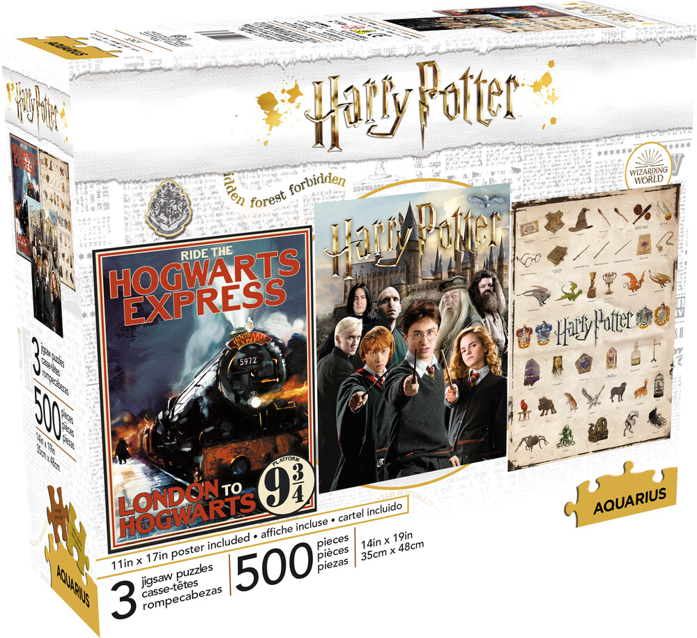 Harry Potter 500 PC X 3 Puzzle Set - Harry Potter 500 Pc x 3 Puzzle Set