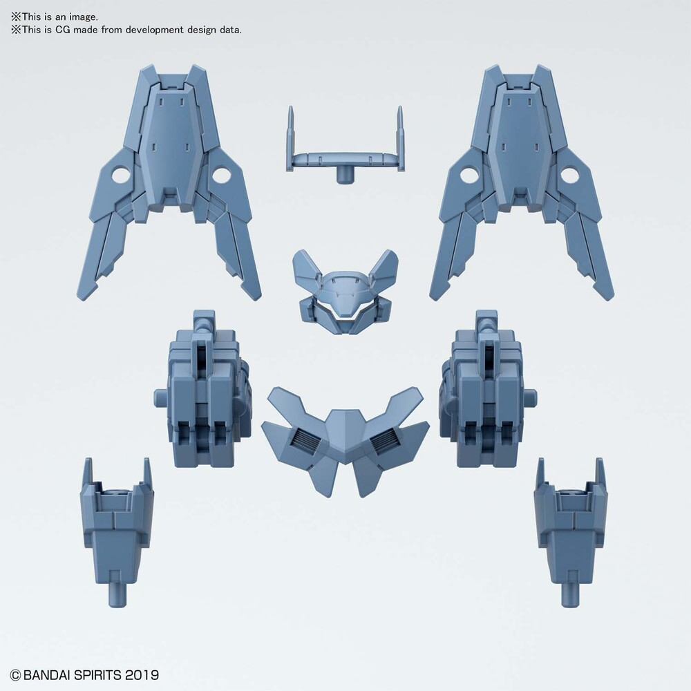 Bandai Hobby - Bandai Hobby - 30 Minute Missions - 1/144 Option Armor For Commander[Cielnova Exclusive/ Blue Gray]
